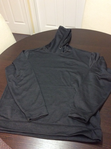 black dynamic heather fleece hoodie - black embroid