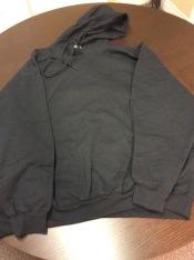 black everyday hoodie - black embroid