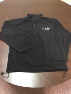 fleece - 1-4 zip - silver embroid