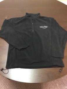 fleece - 1-4 zip - silver embroid