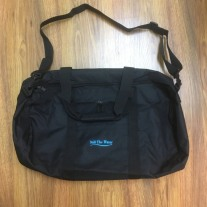 retro black duffle bag