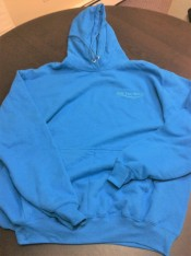 sapphire everyday hoodie - blue embroid