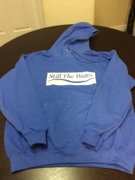 sky blue - everyday hoodie - white cadcut