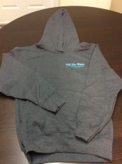 youth grey everyday hoodie - blue embroid