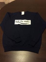 youth navy blue sweatshirt - white cadcut