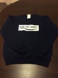 youth navy blue sweatshirt - white cadcut